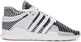 adidas White & Black Equipment Support ADV PK Sneakers
