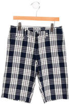 Bonpoint Boys' Plaid Knee-Length Shorts