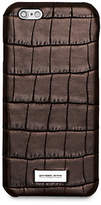 Michael Kors Embossed-Leather Phone Case