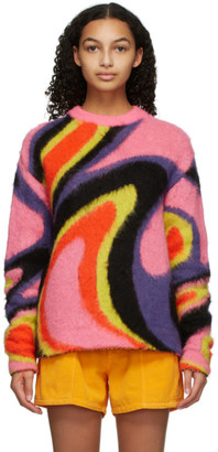 AGR SSENSE Exclusive Pink Mohair Sweater
