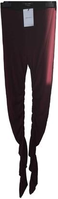 Isabel Marant Burgundy Viscose Trousers