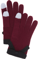 Kate Spade Contrast Bow Texting Gloves