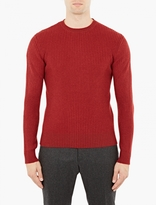 A.p.c. Red Ribbed Wool Sweater