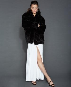 The Fur Vault Mink Fur Bomber Jacket