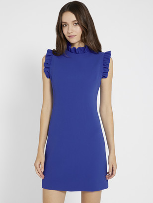 Alice + Olivia Elsa Ruffle Collar Mini Dress
