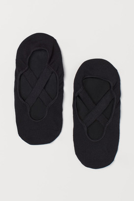 H&M Non-slip Yoga Footie Socks - Black