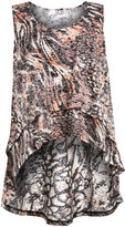 Isolde Roth Plus Size High-Low top with all-over print