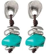 Uno de 50 Turks Imitation Turquoise & Leather Drop Earrings