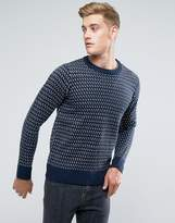 Another Influence Jacquard Knitted Jumper