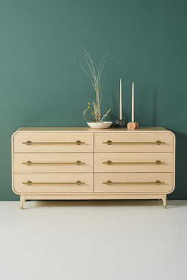 Anthropologie Nora Six-Drawer Dresser By in Beige Size ALL