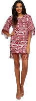 Sam Edelman Cheyenne Fringe Beaded Poncho Dress