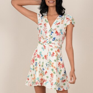 Molly Bracken Short Button-Through Dress in Floral Print