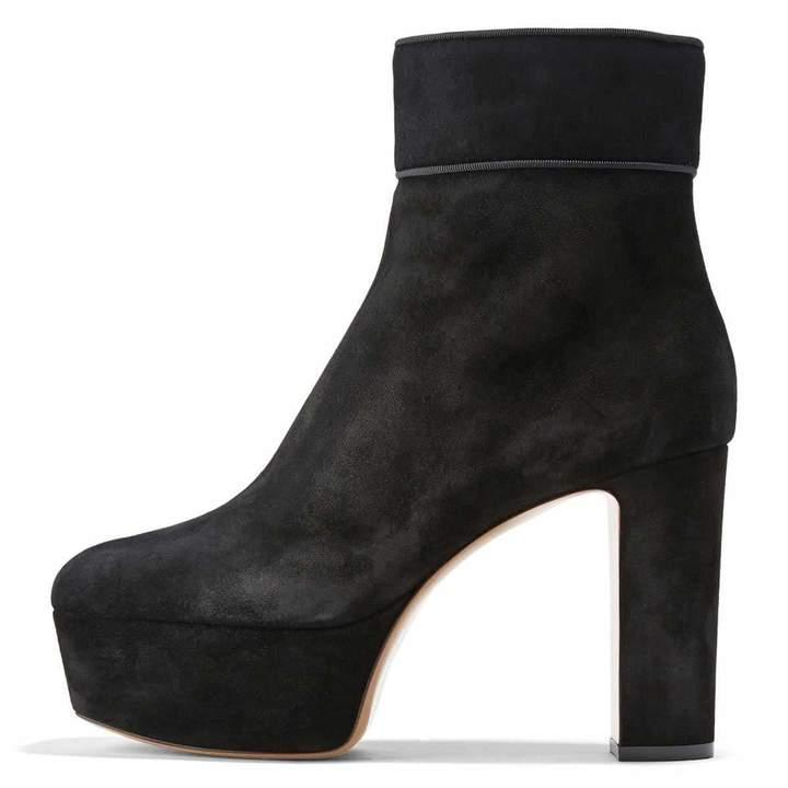 6ef47af0252d2 Unm Womens Chic Buckle Strap Stiletto Kitten Heel Booties Inside Zip Up  Dress Pointy Toe Ankle ...