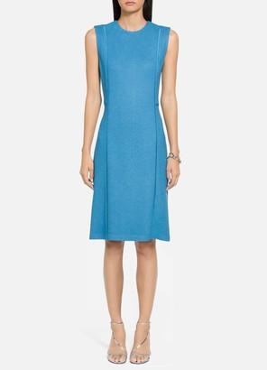 St. John Pebbled Texture Knit Dress
