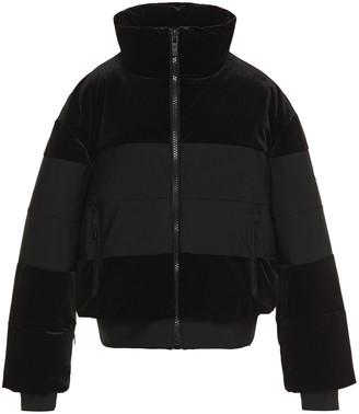 Fusalp Quilted Paneled Velvet Jacket