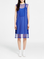 DKNY Lace Dress With Seaming Detail