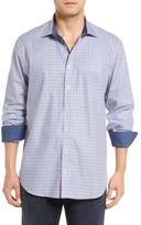Bugatchi Men's Big & Tall Shaped Fit Basketweave Check Sport Shirt