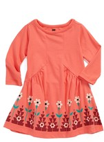 Tea Collection 'Caravan Border Print' Dress (Baby Girls)