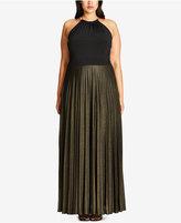 City Chic Trendy Plus Size Pleated Maxi Dress
