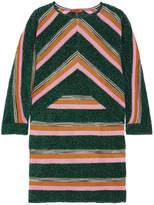 Missoni Striped Metallic Crochet-knit Mini Dress - Green