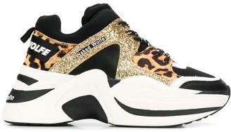 Naked Wolfe Leopard Glitter sneakers