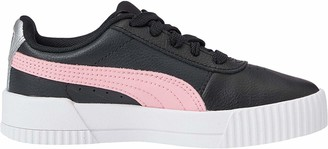 Puma Girls' Carina L PS Trainers Black Black-Peony 08 12.5 (31.5 EU)
