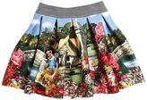 MonnaLisa Snow White Printed Neoprene Skirt