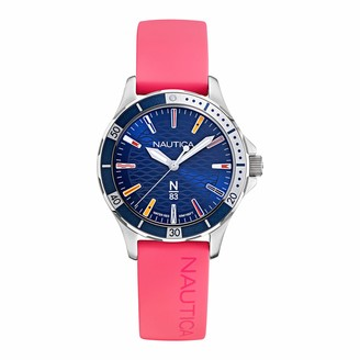 Nautica Men's Marblehead Trophy Brass Plated Stainless Steel Quartz Silicone Strap