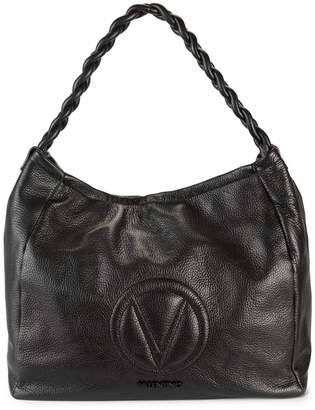 Mario Valentino Valentino By Braided-Strap Leather Hobo Bag