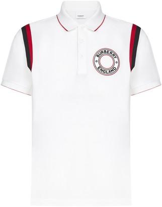 Burberry Logo Graphic Applique Polo Shirt
