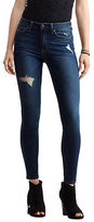 Aeropostale Womens Seriously Stretchy Destroyed High-Waisted Dark Wash Jegging