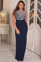 Jessica Wright Sistaglam Loves Tyler Navy Lace Maxi Dress