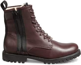 Blackstone Fudge Lug Sole Shearling-Lined Leather Boots