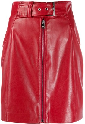 MSGM belted zip-front mini skirt