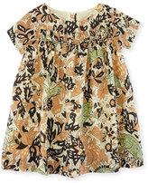 Burberry Emanuella Short-Sleeve Cotton Dress, Size 12M-3T
