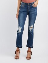 Charlotte Russe Machine Jeans Embroidered Flare Jeans