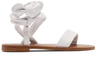 Álvaro González Aroa Wraparound Leather Sandals - White