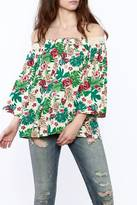 Alythea Tropical Off-Shoulder Top