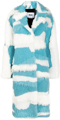 MSGM Panelled Two-Tone Coat