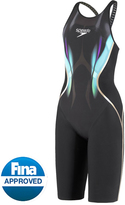 Speedo Limited Edition Women's Printed LZR Racer X Open Back Kneeskin Tech Suit Swimsuit 8136046