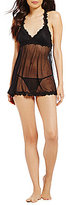 Cassandra Lilly Reversible Mesh & Lace Babydoll