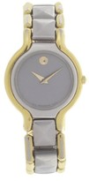 Movado 88 25 823 Two Tone Stainless Steel Grey Dial Bracelet 24mm Womens Watch