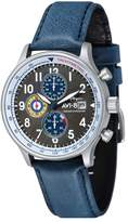 AVI-8 Men's Hawker Hurricane Blue Leather Strap Watch