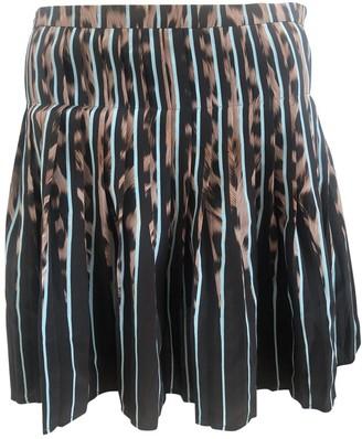 Roberto Cavalli Turquoise Silk Skirt for Women