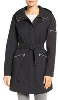 Vince Camuto Women's Hooded Belted Trench Coat