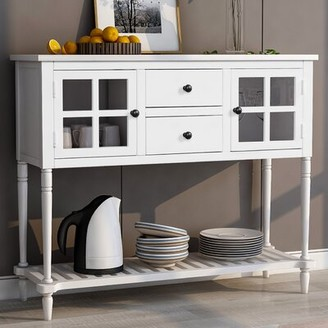 Dovecove 42'' Wide 2 Drawer Sideboard Color: White