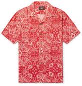 RRL Camp-Collar Printed Woven Shirt