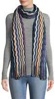 Missoni Women's Lurex Fringed Edges Wool Scarf