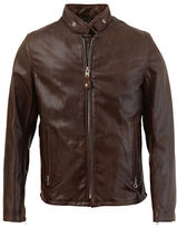 Schott NYC Leather Casual Racer Jacket
