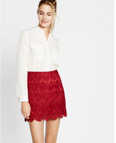 Express soft button down blouse